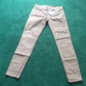 Gap 1969 Skinny Tan Color Zip Jeans